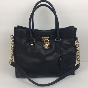 Michael Kors Hamilton Large Black Tote Bag